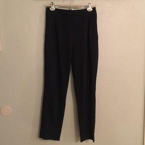Lulus Navy Pleated Dress Pants